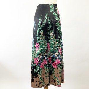Vintage 1960 1970 Floral Gaucho Wide Leg Pants